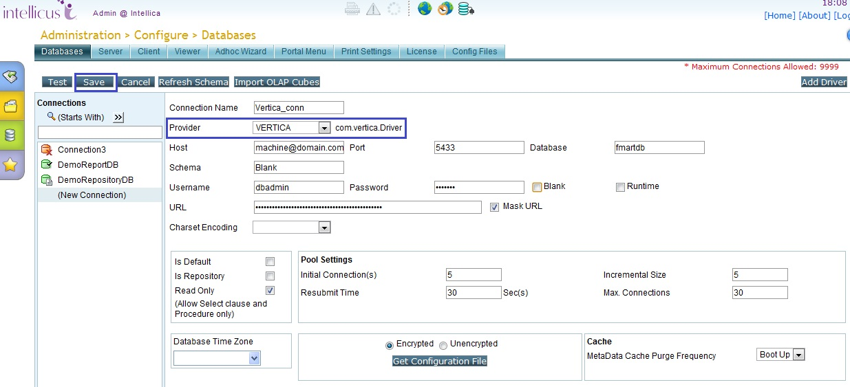 Intellicus 5.4 Release Notes - Database Enhancement
